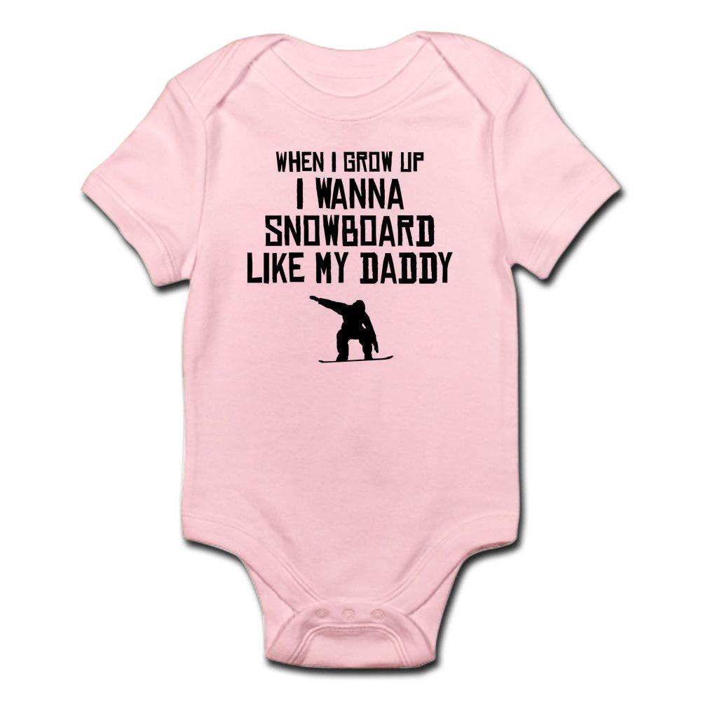 CafePress - Snowboard Like My Daddy Body Suit - Cute Infant Bodysuit Baby Romper