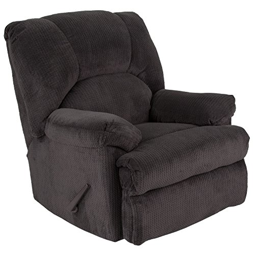 Microfiber Rocker Recliner - Flash Furniture Contemporary Feel Good Slate Microfiber Rocker Recliner