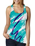 RAISEVERN Women's Paper Cup Hip Hop Printed Racerback Tank Tops Sleeveless Gym T-Shirt Comfy Blouse