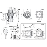 Hanperal Push Button Latch,93-303 Series Plastic