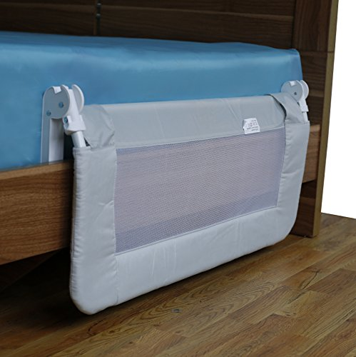 toddler bed rail guard for convertible crib kids twin double full size queen ebay. Black Bedroom Furniture Sets. Home Design Ideas