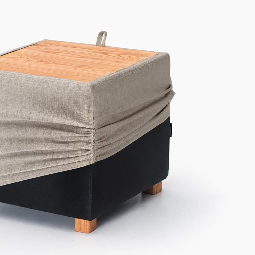 Amazon.com: Taburete de almacenamiento LXF Ottomans con tapa ...