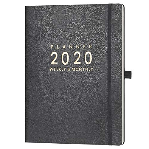 """2020 Planner with Pen Holder - 8.5"""" x 11"""" Weekly & Monthly Planner with Calendar Stickers, January - December 2020, Inner Pocket with 24 Notes Pages, A4 Premium Thicker Paper"""