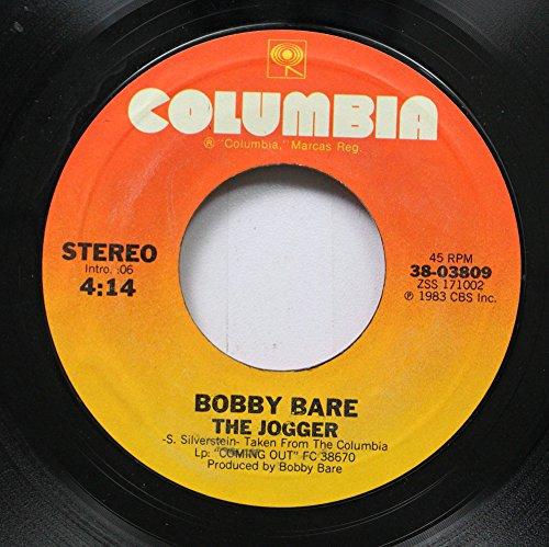 BOBBY BARE 45 RPM THE JOGGER / THE GRAVY TRAIN