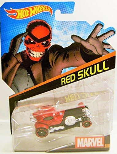 Qiyun Red Skull Marvel Comics Character Car Hot Wheels Diecast 2015 RARE