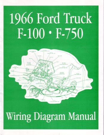 amazon com: 1966 ford f-100 f-150 to f-750 truck wiring diagrams: automotive