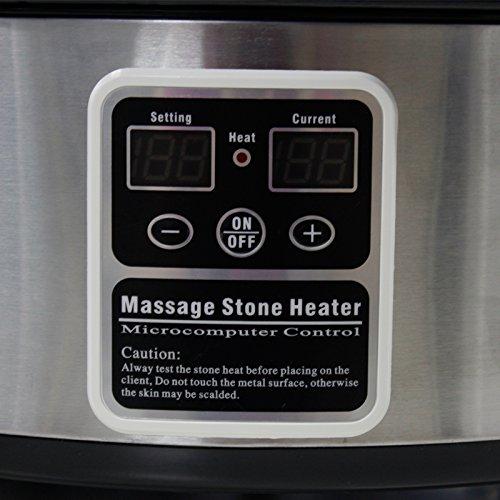 Master Masaje profesional digital Calentador calentador de piedra caliente (6 cuartos): Amazon.es: Salud y cuidado personal