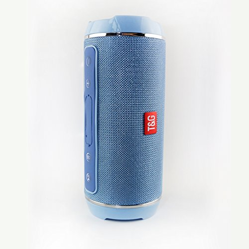 GIMTVTION TG116 Waterproof Wireless Bluetooth 4.2 Speaker Super Bass Subwoofer Outdoor Sound Box FM Portable Stereo Speaker + 16G TF Card (Blue)