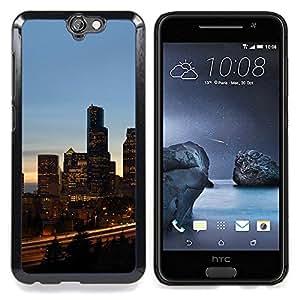 - Chicago City - - Cubierta del caso de impacto con el patr??n Art Designs FOR HTC ONE A9 Queen Pattern