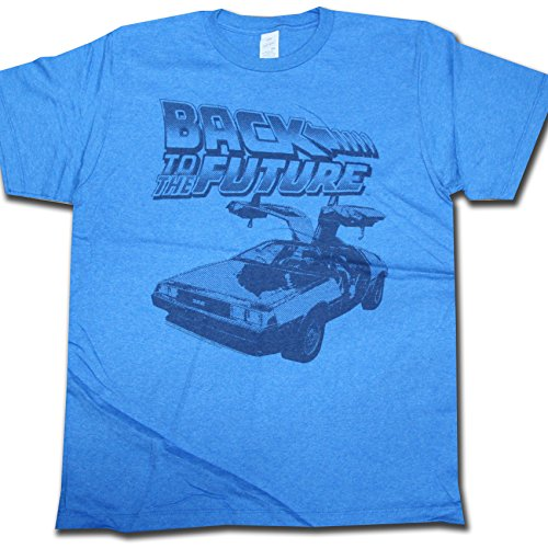 Back To The Future T shirt - DeLorean Blue Official 80's Retro
