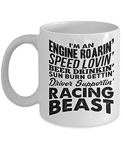 Funny Mug - race car gifts for men - car race novelty - Racing Beast - racing mug - racing coffee - Tyco Corvette