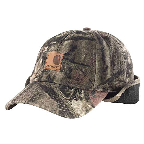 Carhartt Men's Camo Ear Flap Cap,Realtree Xtra,Medium/Large (Ears Winter Man Hat)