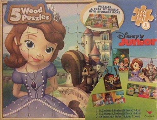 Disney Junior 5 Wooden Puzzles