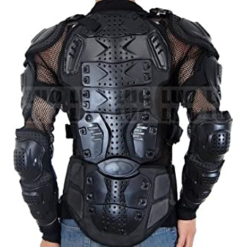 Motorcycle racing full body armor jacket chest for Motorcycle body armor shirt