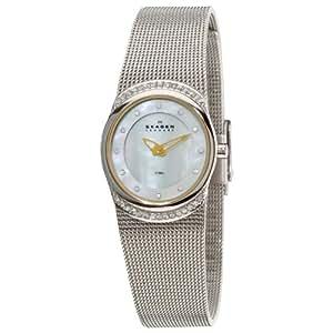 Skagen Women's 686XSGSC Steel Mother-Of-Pearl Swarovski Crystal Dial and Bezel Watch