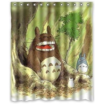 LIBIN ScottShop Custom My Neighbor Totoro Shower Curtain Decoration Waterproof Polyester Fabric Bathroom Curtains