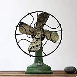 kaige Table Decoration Vintage Resin Vintage Fan Decoration Size: 16.513cm
