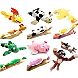 Yosoo 6pc Set of Flingshot Flying Animals with Sound Monkey Pig Chicken Cow Duck Frog