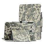 i-UniK Galaxy Tab E 9.6 case Samsung Galaxy Tab E / Tab E NooK 9.6 inch SM-T567V Verizon 4G LTE case Folio Case [Bonus Stylus] (ACU CAMO)