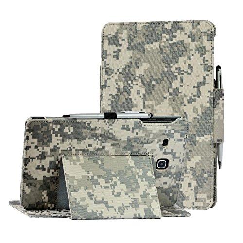 TAB E 8.0 case, Samsung Galaxy TAB E 8.0 inch SM-T377A/P/R/T/V Verizon/Sprint/US Cellular/AT&T/T-Mobile case by i-UniK Slim Folio Case [Bonus Stylus] (ACU CAMO)