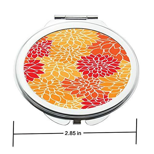 Flat Nature Makeup Mirror Circular Planar Fold Mirror with Button Lock Clipart -
