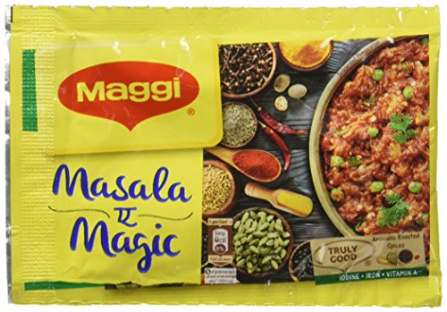 72 Sachet Maggi Masala a Magic the First Ever Fortified Taste Enhancer Taste of Indian Food Seasonings 6g X 72 = 432 Grams (Pack of 72 sachets) by Maggi