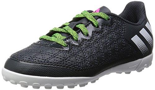 adidas Ace 16.3 Cage J, Botas de Fútbol Unisex Bebé Gris / Verde (Griosc / Gris / Versol)
