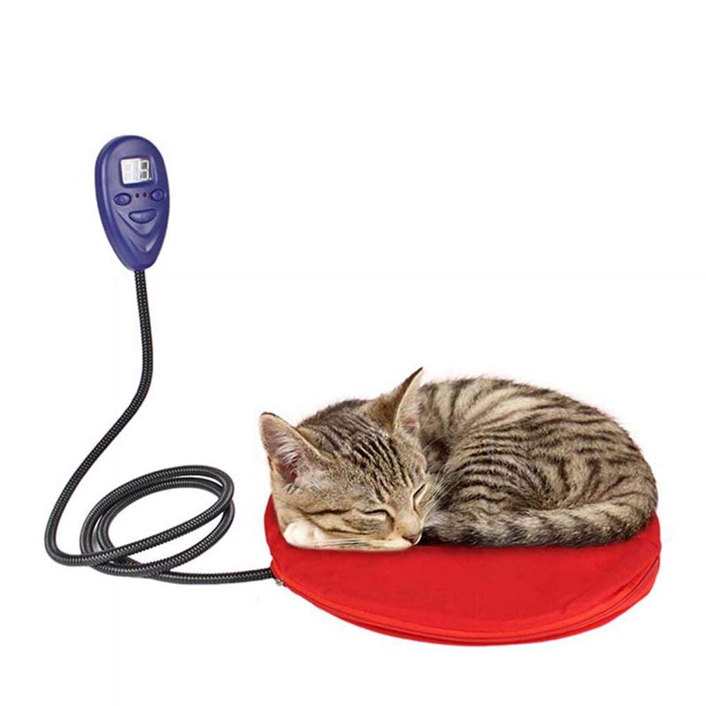 Red LXJ-LD Pet Electric Heated Pad Blanket Cats Dog Self Heating Mat Puppy Winter Warm Bed House Nest Sleeping Cushion Pads