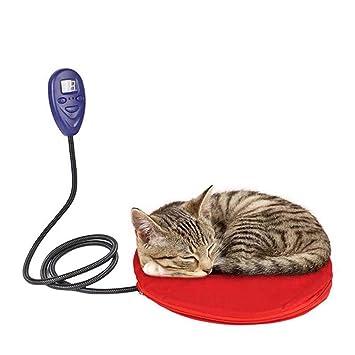 LXJ-LD Mascota eléctrica cojín climatizada Manta Gatos Perro Auto calefacción Mat Cachorro Invierno cálido Cama casa Nido Almohadillas para Dormir,Red: ...