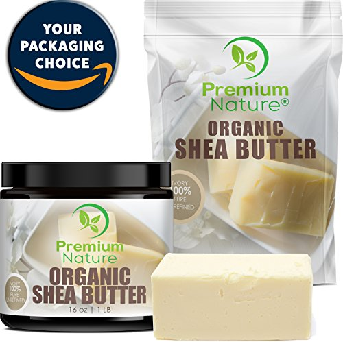 Shea-Butter-Raw-Organic-African---16-oz-bag-Pure-Virgin-Unrefined-for-Body-Butter-Stretch-Mark-Eczma-Natural-Lip-Balm-Organic-Skin-Care-Scar-Cream-and-Lotion-DIY-Premium-Nature