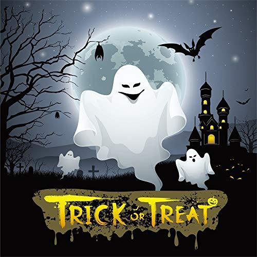 OFILA Halloween Backdrop 6x6ft Kids Trick or Treat