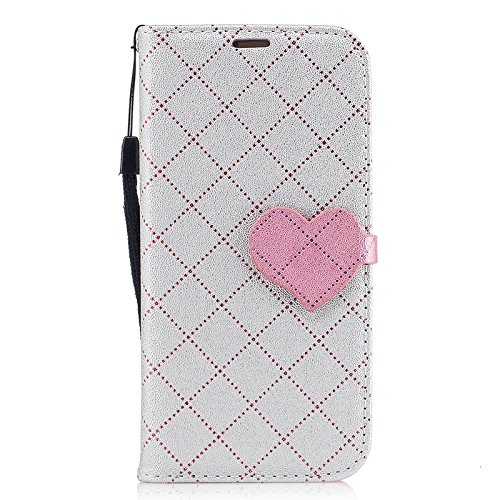 SRY Cierre magnético de la PU carpeta de cuero Flip Folio funda protectora para Samsung Galaxy A3 2017 A320 ( Color : Purple ) Gray