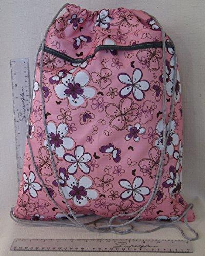 Floral Drawstring 36cm LOTS Bag 45cm W OF DESIGNS Light Shoe Pink Pretty H tt07qO