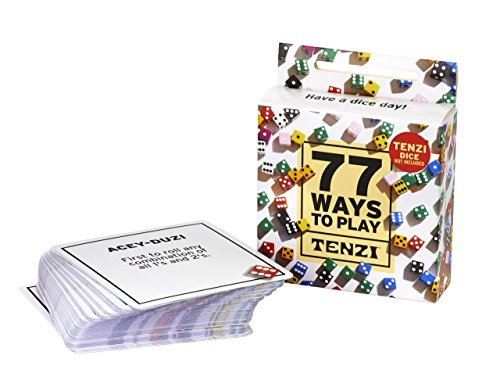 77 Ways to Play Tenzi - 77 Card Deck for Fun Dice Game Variants - Add-On Card Pack