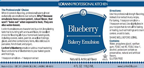 LorAnn Blueberry Bakery Emulsion, Gallon bottle by LorAnn