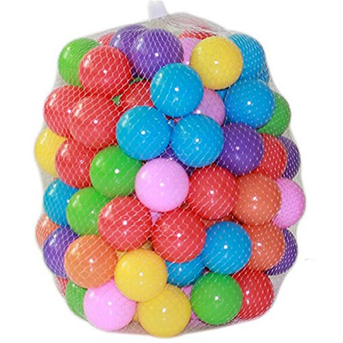 EachWell Pack of 100 pcs Mini 2.16/5.5cm Colorful Soft Plastic Ocean Ball for Ball Pit Fun Ball Baby Kid Toy Swim Pit Toy Christmas Gift Multicolor