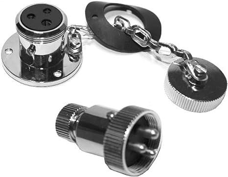 Stecker 1x Wasserdicht 12-24 Volt Deck Stecker Steckdose GX16mm-2 pol