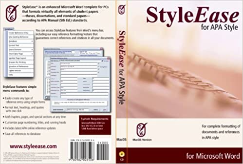 styleease for apa style for mac os version 1 5 gary hillerson
