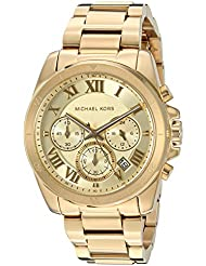 Michael Kors Womens Brecken Gold-Tone Watch MK6366