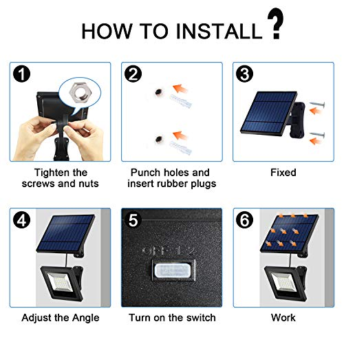 Solar Lights Outdoor Hikeren Ip65 Waterproof Solar Lights