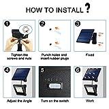 Solar Lights Outdoor, Hikeren IP65 Waterproof Solar Lights(White Light), 30 LED Solar Spot Light, Easy-to-Install Solar Outdoor Lights for Front Door, Yard, Garage, Deck