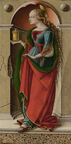 The Perfect effect Canvas of oil painting 'Carlo Crivelli - Saint Mary Magdalene,about 1491-4' ,size: 12x24 inch / 30x62 cm ,this Replica Art DecorativePrints on Canvas is fit for Basement (Scary Mary Crafts)
