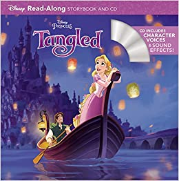 amazon tangled read along storybook and cd disney book group