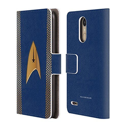 Official Star Trek Discovery Command Uniforms Leather Book Wallet Case Cover for LG K10 (2017) / K20 Plus ()