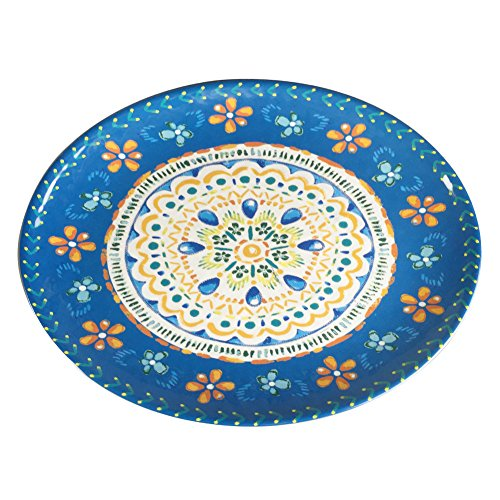 Large Oval Dinner Plate Melamine Tray - Yinshine 16 Inch Outdoor Plate