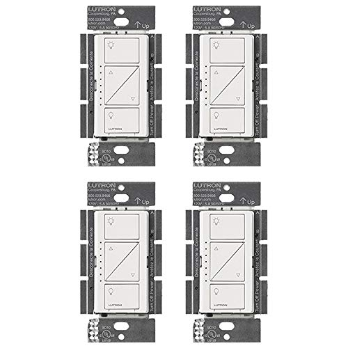(Lutron PD-10NXD-WH Caseta Pro In Wall Dimmer 250W LED (4 Pack))