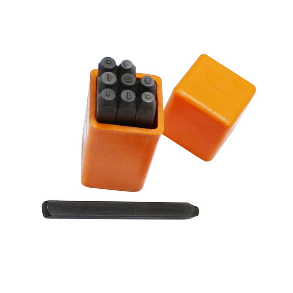 9 PC 1//16 1.5mm Metal Marking Punch Symbols Stamp Set Jewelry Tool