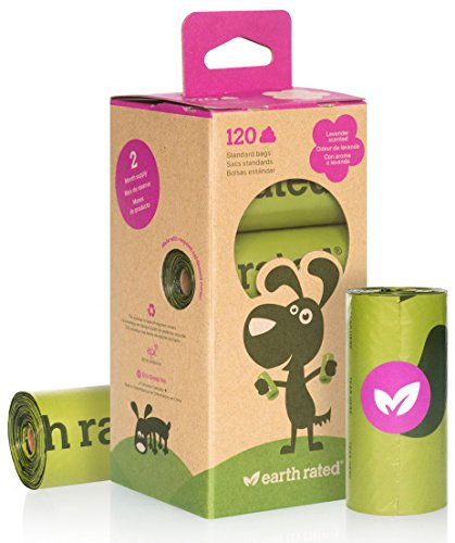 Earth Rated 120-Count Lavender-scented Dog Waste Bags 8 Refill Rolls