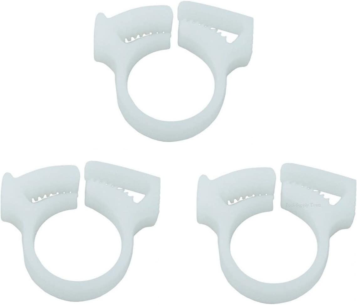 ATIE PoolSupplyTown Sweep Hose Attachment Clamp B15 Replace Polaris 180 280 360 380 Pool Cleaner Sweep Hose Attachment Clamp B15 B-15 (3 Pack)