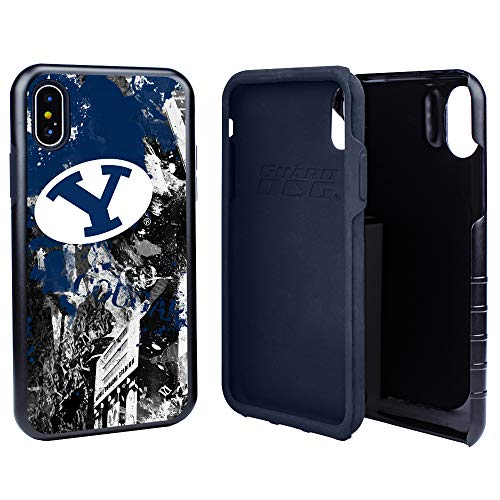 Guard Dog BYU Cougars PD Spirit Hybrid Case for iPhone Xs Max with Guard Glass Screen ()